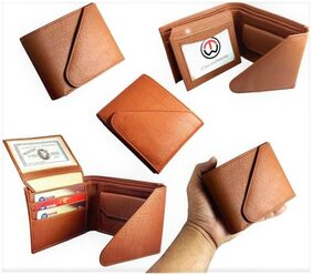 FRIENDS & COMPANY Men Leather Tri Fold - Tan