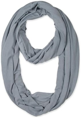 LILI Women Cotton Scarves - Silver