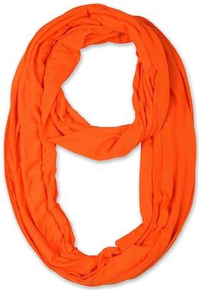 LILI Women Cotton Scarves - Orange