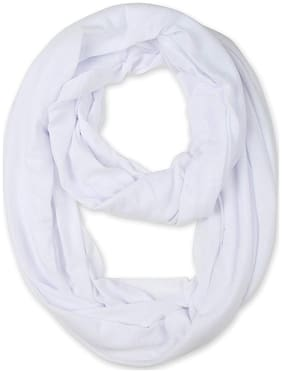 LILI Women Cotton Scarves - White