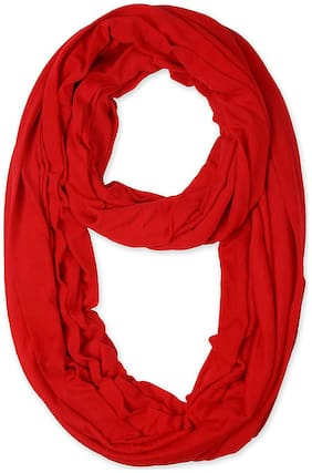 LILI Women Cotton Scarves - Red