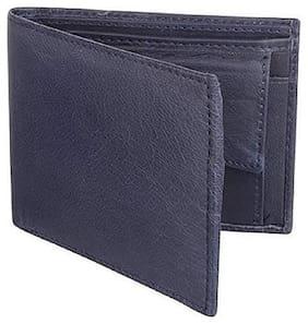 Lime Wear Men's Black Leather Washed Black RFID Blocking Leather Wallet