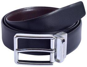 Lino Perros Black-Brown Genuine Leather Belt