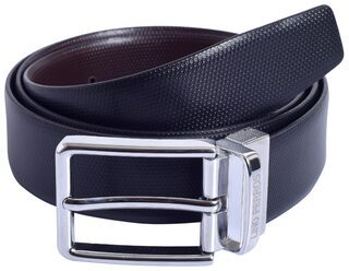 Lino Perros Black-Brown Genuine Leather Belt