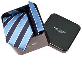 Lino Perros Blue Tie Pocket Square Set