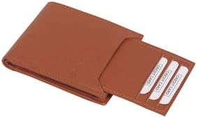 long lasting money save pure leather (pu) wallet ( Tan bacha -3)