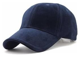 Look With Stylish Dark Blue Cotton baseball Cap