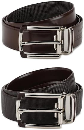 Louis Philippe Men Brown Leather Belt (Size: 32 , Pack of 1 )