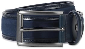 Louis Philippe Men Navy blue Leather Belt (Size: 36 , Pack of 1 )