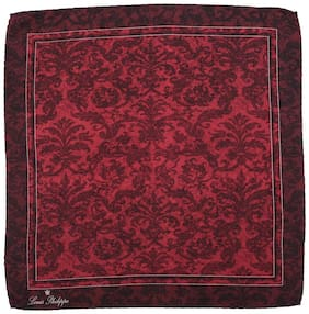 Louis Philippe Maroon Pocket Square