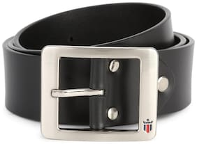 Louis Philippe Men Black Leather Belt (Size: 36 , Pack of 1 )