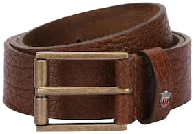Louis Philippe Men Brown Leather Belt (Size: 40 , Pack of 1 )
