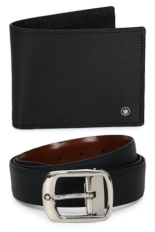 Louis Philippe Men Brown Solid Reversible Leather Belt