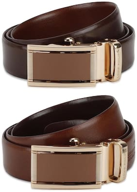 Louis Philippe Men Brown Leather Belt (Size: 36 , Pack of 1 )