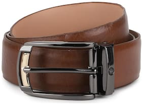 Men Leather Belts ( Brown )