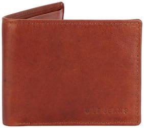 Louis Philippe Men Brown Leather Bi-Fold Wallet ( Pack of 1 )