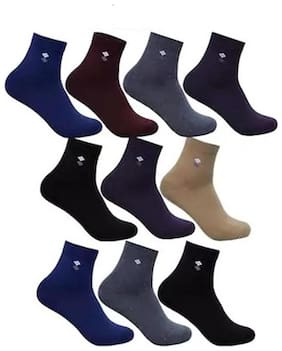 Lux Assorted Cotton Crew length socks ( Pack of 6 )