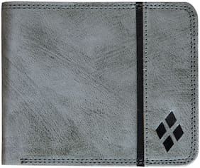 LUXIQE Classic PU-Leather Grey Wallet/Purse for Men/Boys (WL1003GY)