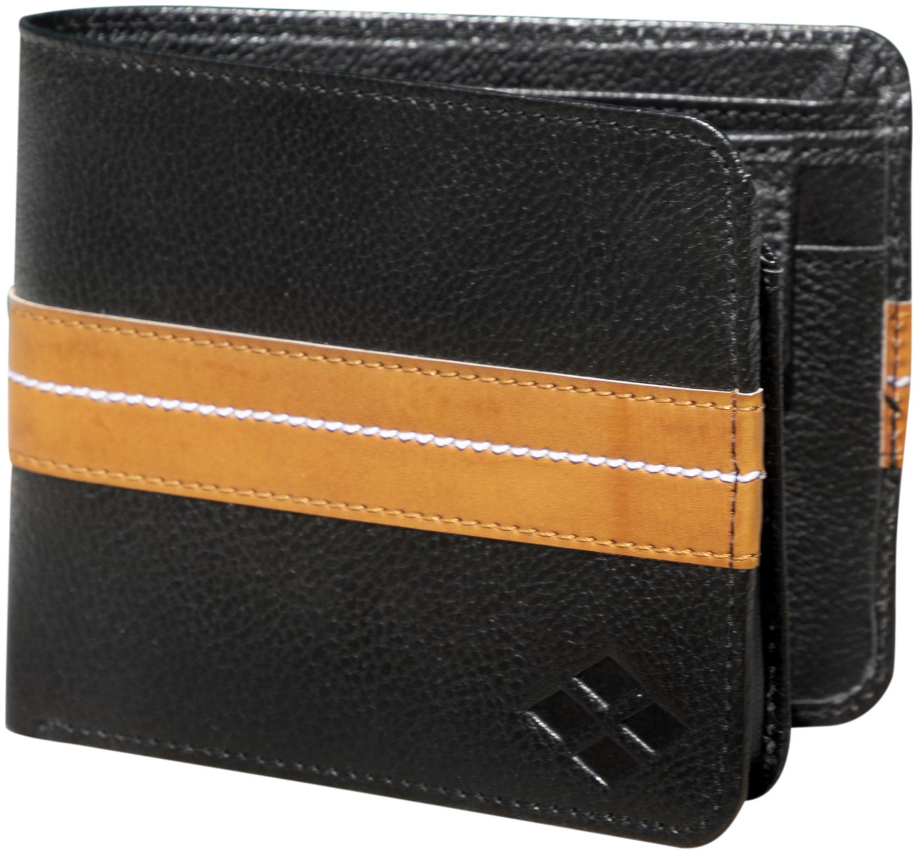 LUXIQE Men Black Artificial Leather Wallet  WL1002BK  by Health Life