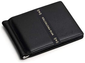 M TUGGAR Men Black Leather Bi-Fold Wallet ( Pack of 1 )