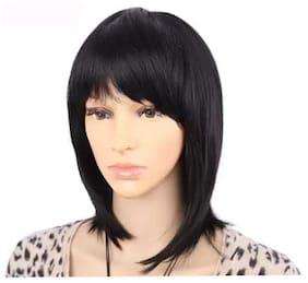 Maahal Full Head Hair Wig/Extensions;Women's Short Straight Bob Wig Natural Black