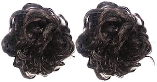 Maahal Set of 2;Funky Clutcher;Brown Hair Extension Hair Accessory Set (Brown)
