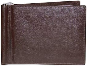 MadSan Men Brown Leather Money Clip Wallet ( Pack of 1 )
