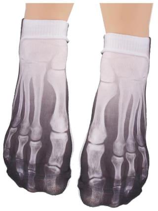6419eea8eb3d Magideal Fashion Cool Women Men Casual Low Cut Ankle Socks Cotton 3D Sock  Bones