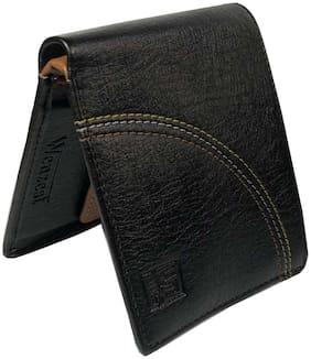 WENZEST Men Black Pu Bi-Fold Wallet ( Pack of 1 )