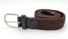 Manyas Women Synthetic Belt - Brown