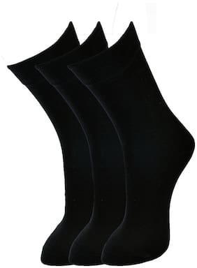 Marc Black Cotton Calf length socks ( Pack of 3 )