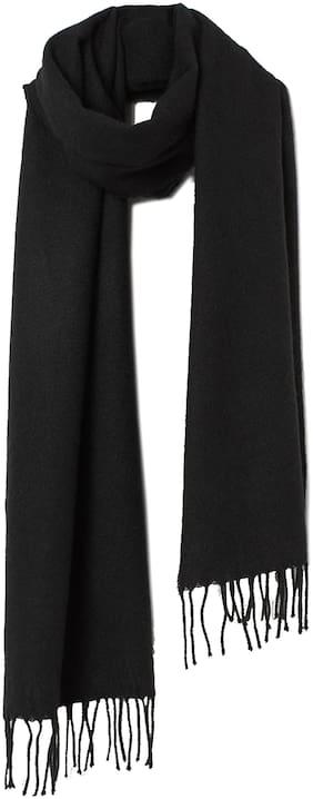 MARKETON Men Wool Muffler - Black