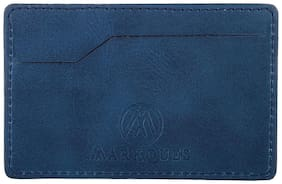 MARKQUES Men Synthetic leather Card holder - Blue