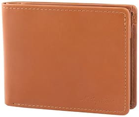 Mathey-Tissot Men Tan Leather Bi-Fold Wallet ( Pack of 1 )