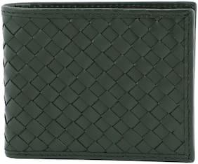 Mathey-Tissot Men Green Leather Bi-Fold Wallet ( Pack of 1 )
