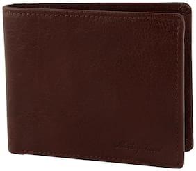 Mathey-Tissot Men Brown Leather Bi-Fold Wallet ( Pack of 1 )