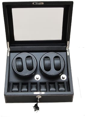 Medetai Auto Rotate Watch Winder Box Double Winders ( 4+6 ) Full Carbon