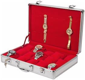 Medetai Luxury 15+8 Aluminium Leather Watch Box Jewelry Display Storage Case