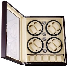 Medetai  LUXURY WOODEN LETHERITE Eight Automatic Watch Winders and 6 Storages