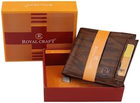 Royal Craft Men Brown Pu Bi-Fold Wallet ( Pack of 1 )