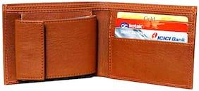 Battlestar Men Tan Synthetic leather Bi-Fold Wallet ( Pack of 1 )