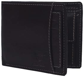 Men casual formal pure leather (pu) wallet ( Black bacha - 4)