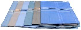 Men multi cotton handkerchiefs pack of 6