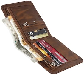Royal Craft Men Brown Pu Bi-Fold Wallet ( Pack of 1 )