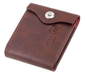 Men's Bifold Leather Wallet (Brown)