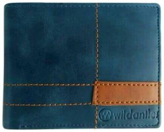 Men's/ Boys Blue, Multi color Genuine Leather Wallet  (6 Card Slots)