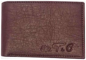 FRIENDS & COMPANY Men Brown Leather Bi-Fold Wallet ( Pack of 1 )