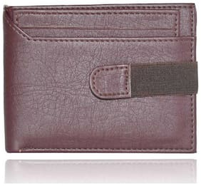 men's fashion formal casual pure leather wallet ( cut brown  bacha -1)