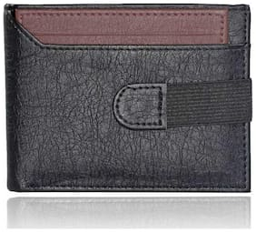 men's formal casual  pure leather wallet ( cut mix black& brown bacha -1)
