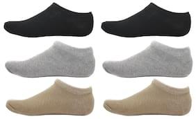 HashBean Men's No Show Low Cut Loafer socks (2 Black, 2 Silver, 2 Beige)